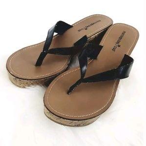 Montego Bay Club Wedge Sandals sz 9.5